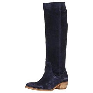 Diba Pro Gress Western Heel Boot Navy Blue Suede 7